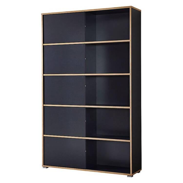 aktenregal set 2 teilig manhatten 01 anthrazit sonom. Black Bedroom Furniture Sets. Home Design Ideas