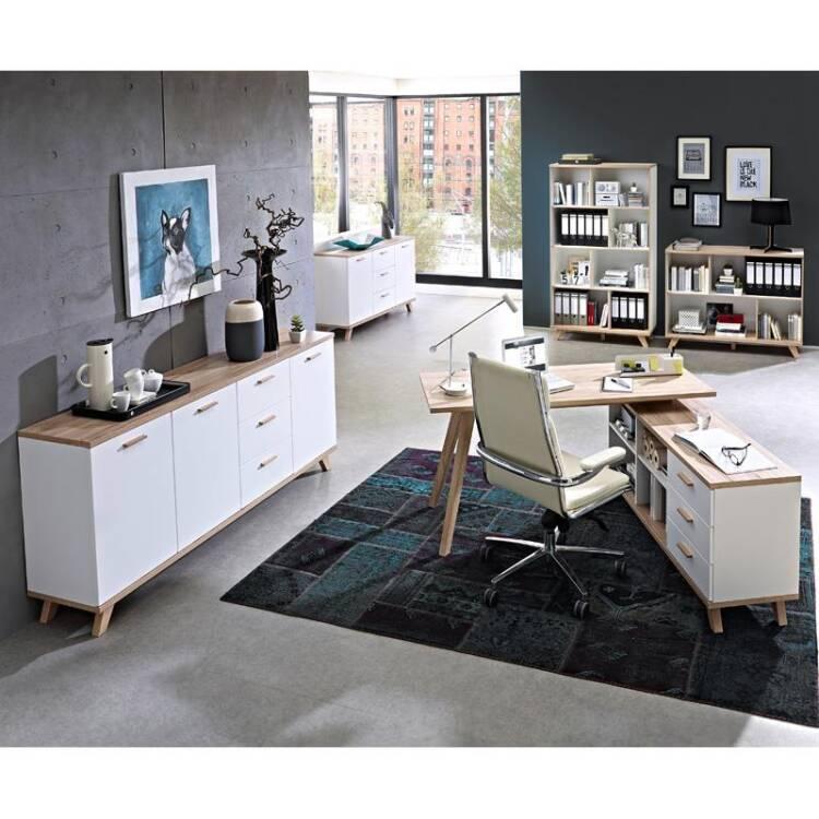 Büromöbel weiß  Büromöbel Set SOSLO-01 supermatt weiß