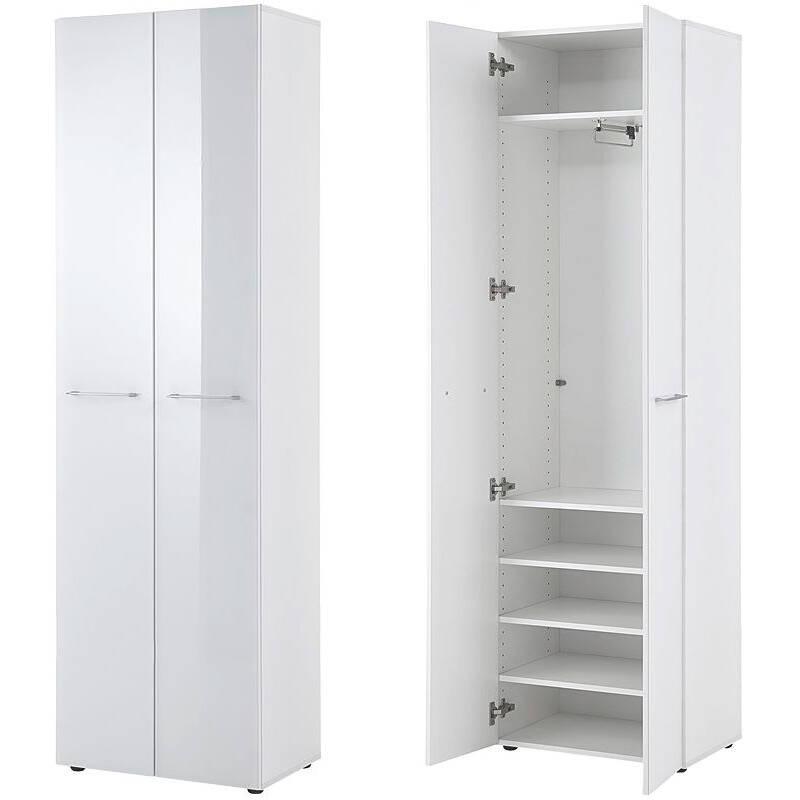 garderobenschrank orlando 01 glasfront wei b. Black Bedroom Furniture Sets. Home Design Ideas