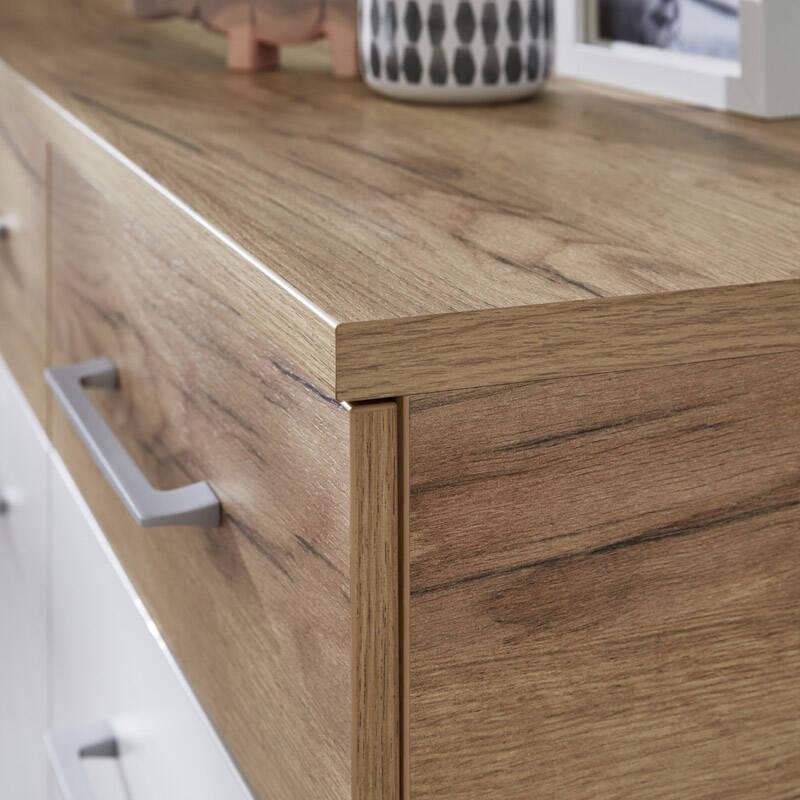 schuhschrank dakota 01 wei navarra eiche nb. Black Bedroom Furniture Sets. Home Design Ideas