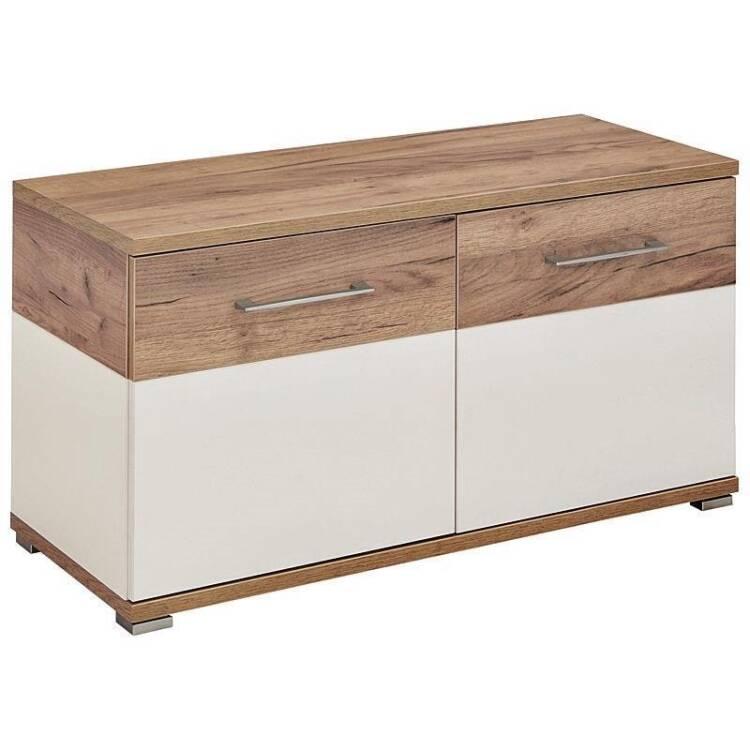 schuhbank dakota 01 wei navarra eiche nb 9. Black Bedroom Furniture Sets. Home Design Ideas