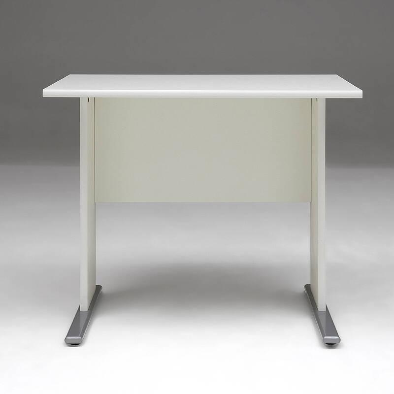 Schreibtisch Anstelltisch STETTIN-16 weiss, B x H x T: 90 x 75 x 65 cm