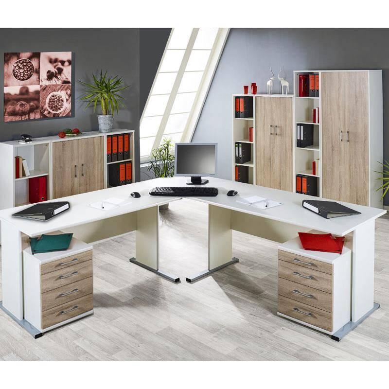 aktenschrank 4 oh stettin 16 wei sonoma eiche b. Black Bedroom Furniture Sets. Home Design Ideas