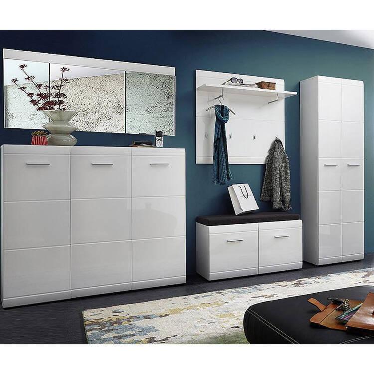 spiegel danaro 01 134x63x3cm hochglanz wei. Black Bedroom Furniture Sets. Home Design Ideas