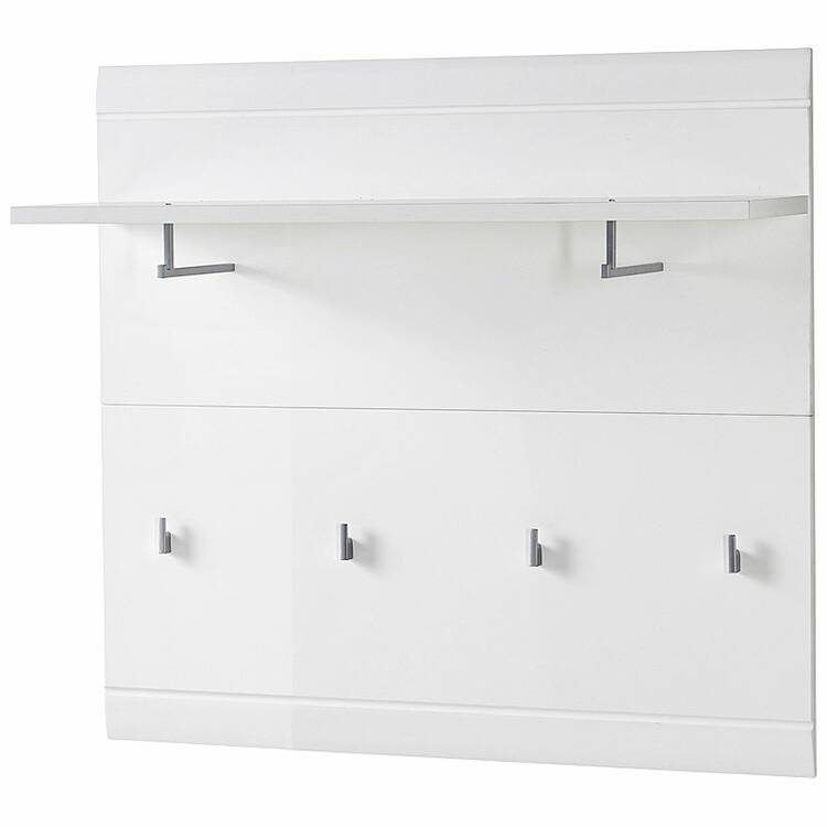 garderobenpaneel danaro 01 96x90x31cm hochglanz wei. Black Bedroom Furniture Sets. Home Design Ideas