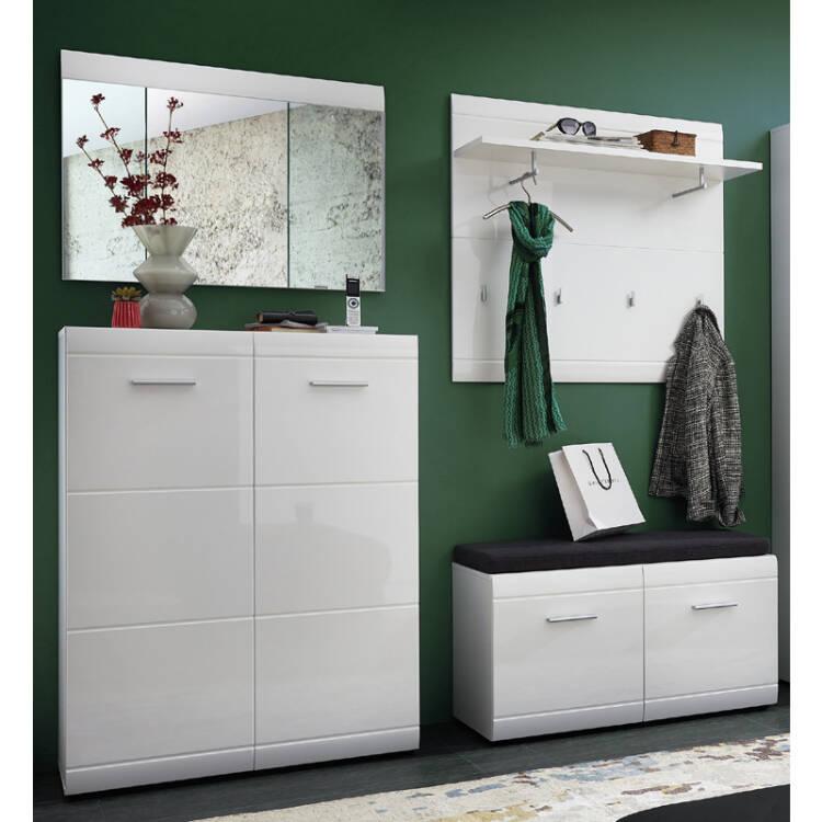 garderoben set danaro 01 hochglanz wei 4 teilig b. Black Bedroom Furniture Sets. Home Design Ideas