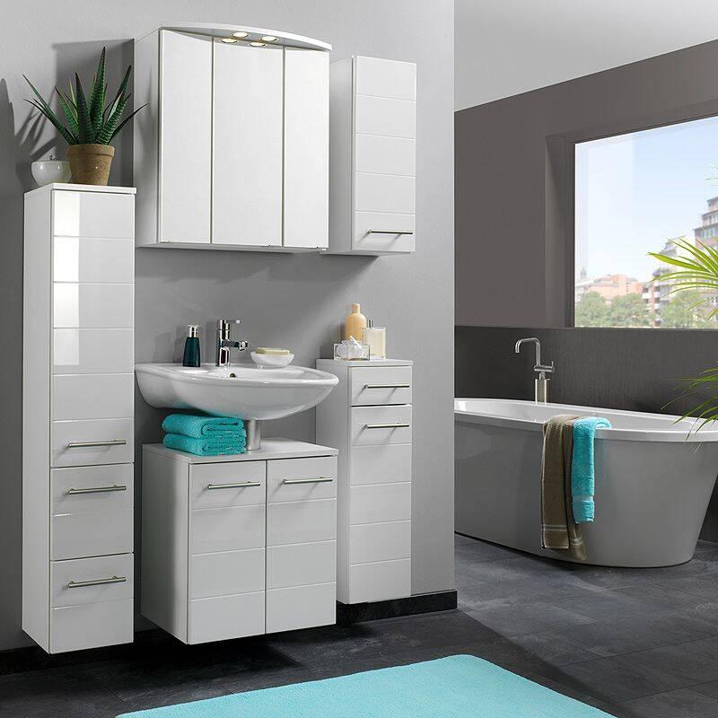 hochschrank atlanta 03 hochglanz wei b x h x. Black Bedroom Furniture Sets. Home Design Ideas
