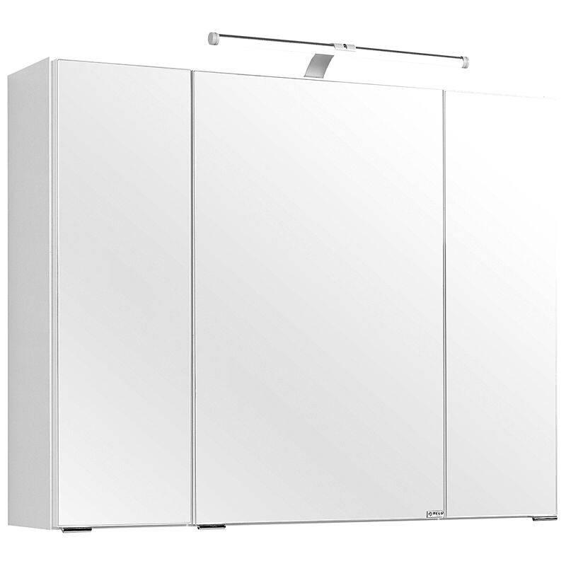 Spiegelschrank BERGAMO-03, weiß, B x H x T ca.: 80 x 66 x 20cm