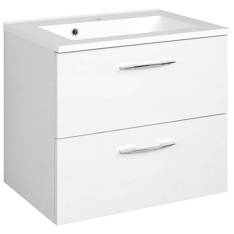 Waschtisch BERGAMO-03, weiß, B x H x T ca.: 60 x 54 x 48cm