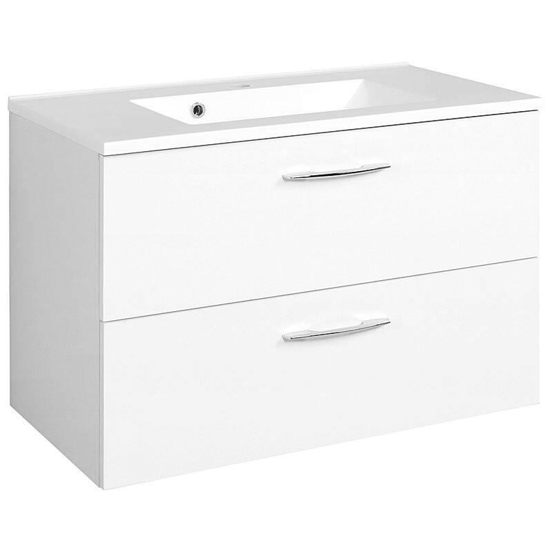 Waschtisch BERGAMO-03, weiß, B x H x T ca.: 80 x 54 x 48cm