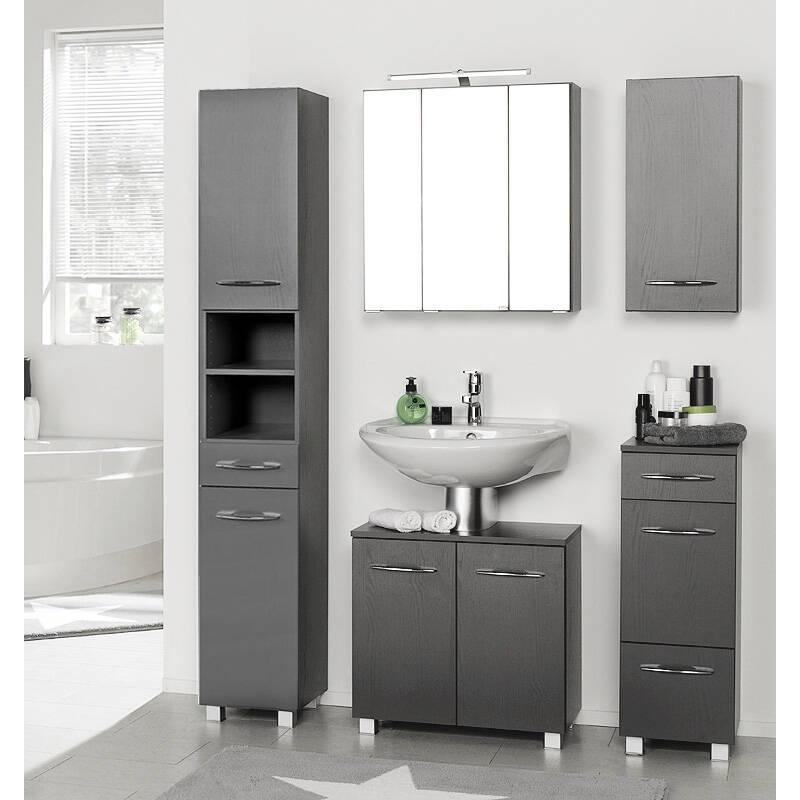 badm bel set bergamo 03 graphitgrau b x h x t. Black Bedroom Furniture Sets. Home Design Ideas