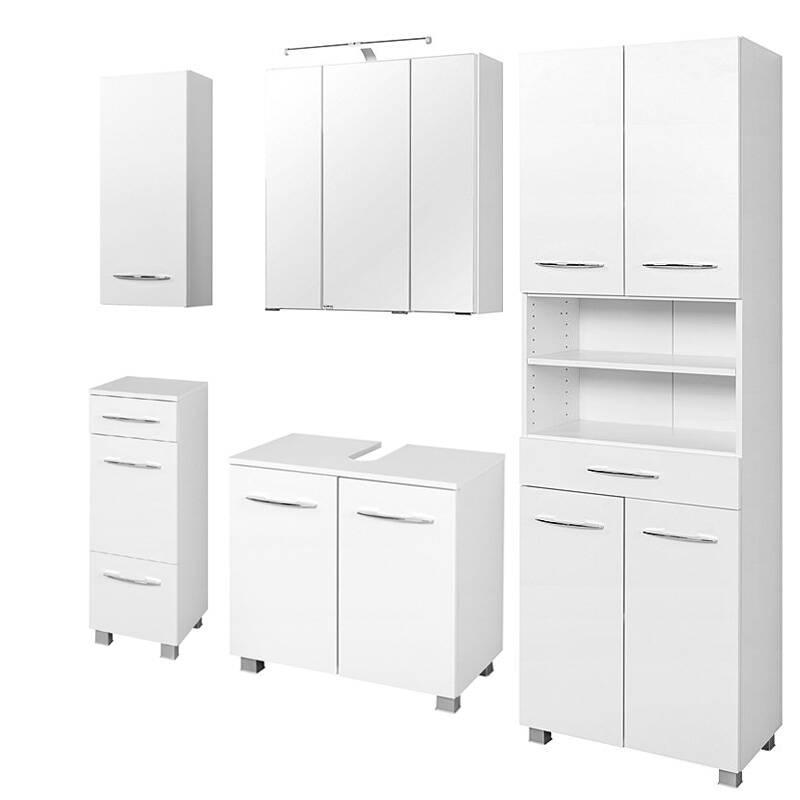 Badmöbel Set BERGAMO-03, weiß, B x H x T ca.: 190 x 200 x 35cm