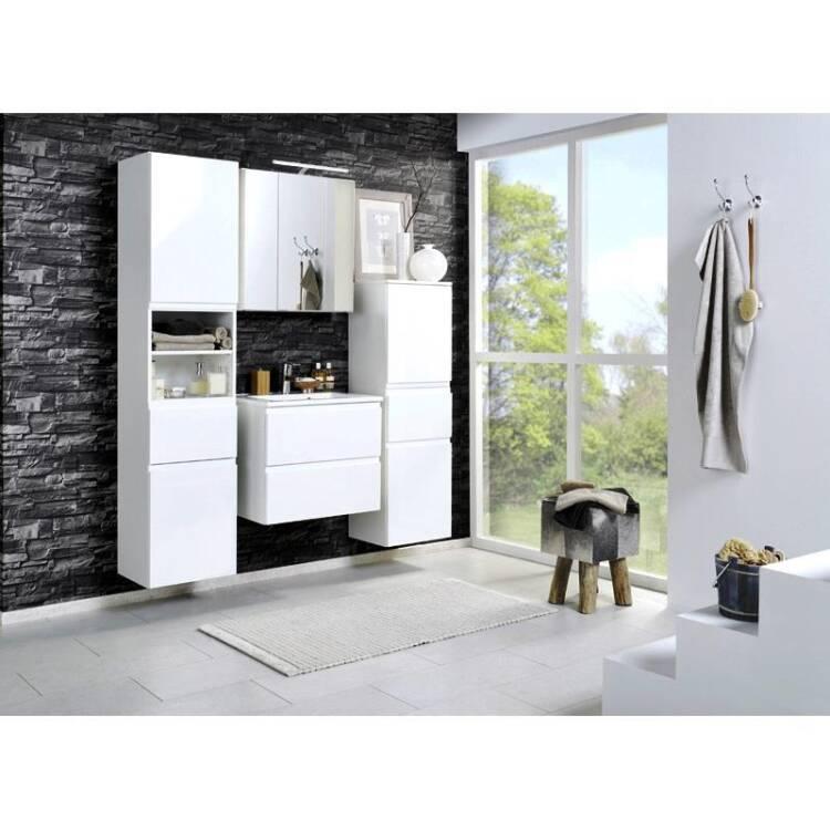badm bel set como 03 4 teilig hochglanz wei 60cm. Black Bedroom Furniture Sets. Home Design Ideas