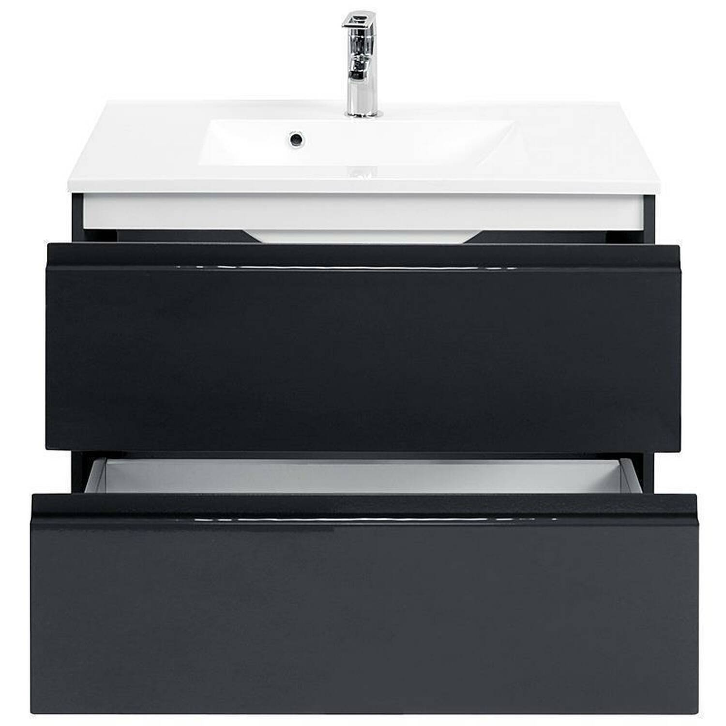badm bel set como 03 5 teilig hochglanz grau 80c. Black Bedroom Furniture Sets. Home Design Ideas