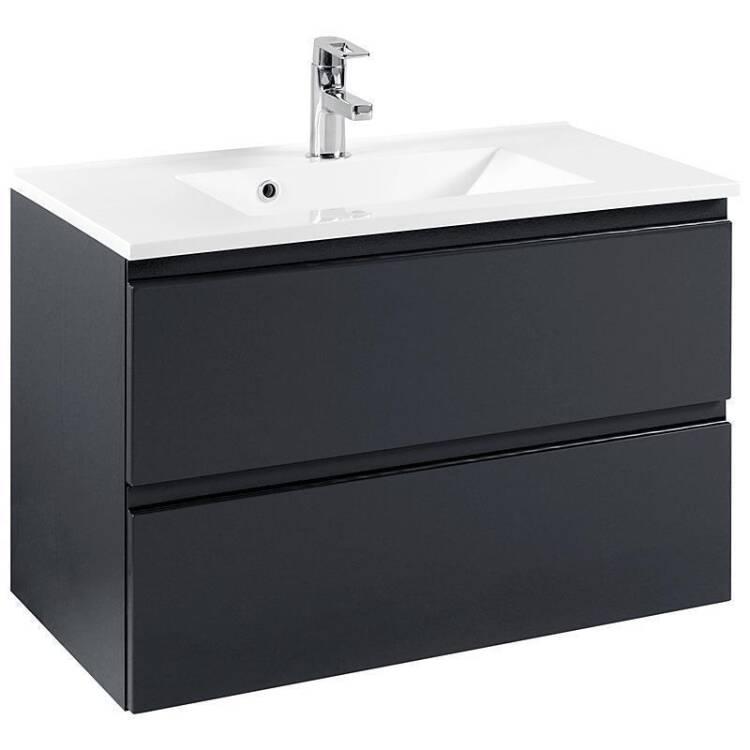 badm bel set como 03 5 teilig hochglanz grau 80cm w. Black Bedroom Furniture Sets. Home Design Ideas