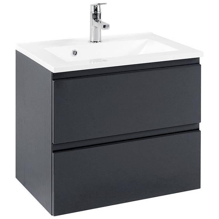 badm bel set como 03 3 teilig hochglanz grau 60cm. Black Bedroom Furniture Sets. Home Design Ideas