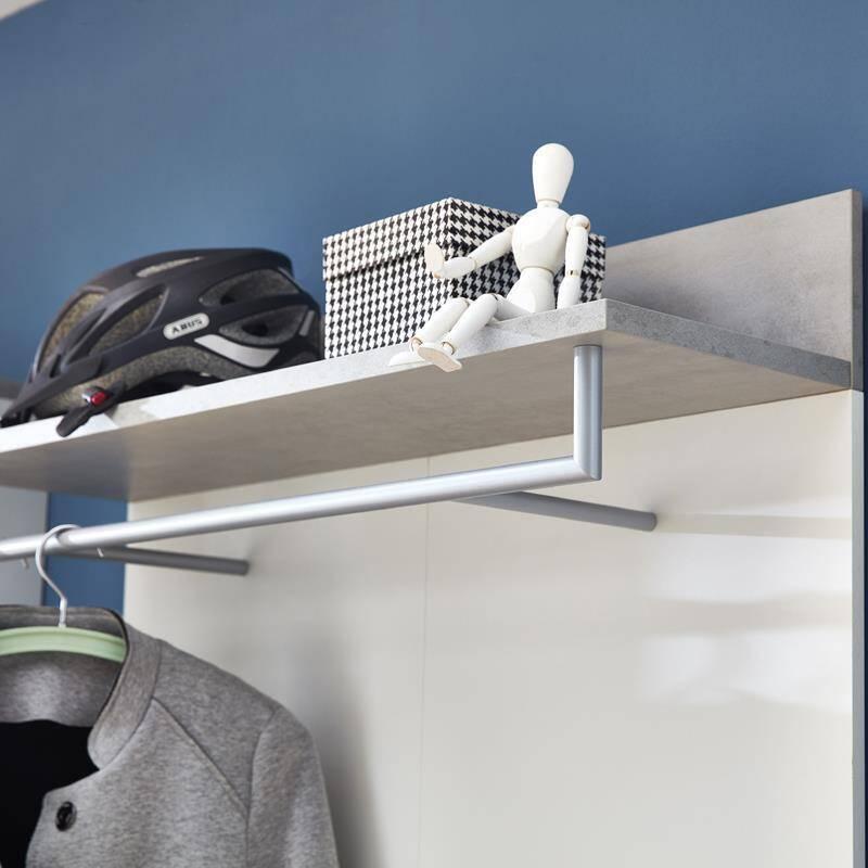 garderobenpaneel dakota 01 wei beton optik. Black Bedroom Furniture Sets. Home Design Ideas