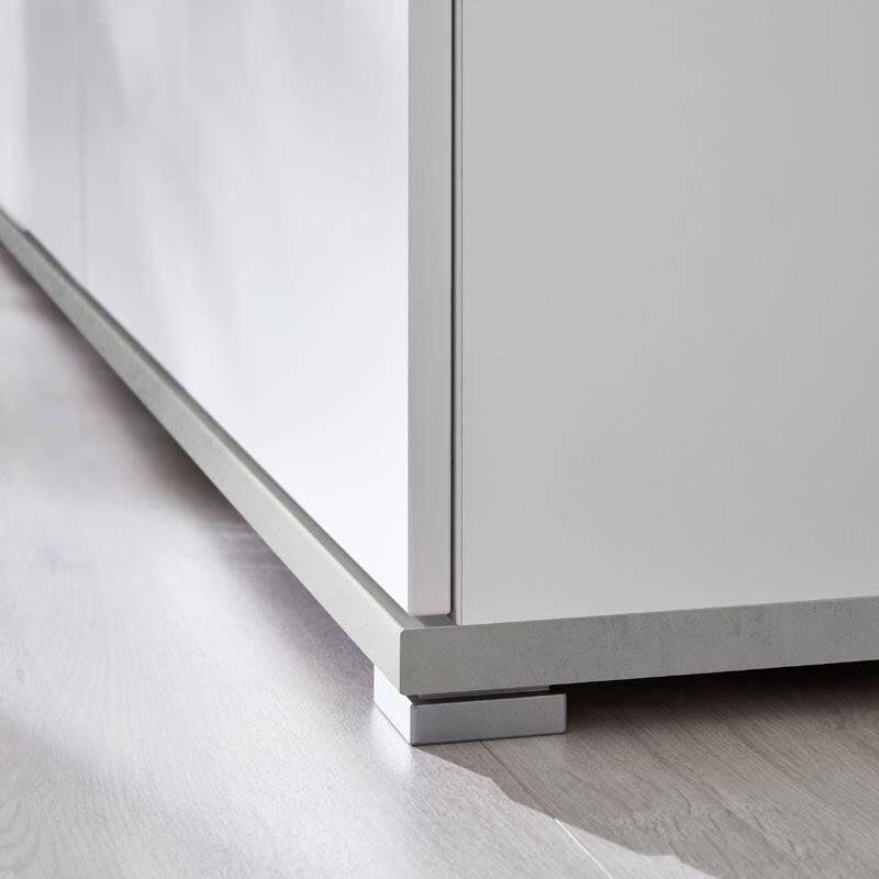 garderobenschrank dakota 01 wei beton optik. Black Bedroom Furniture Sets. Home Design Ideas