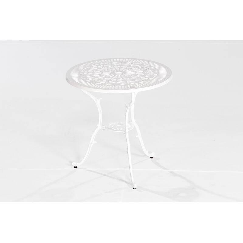 Gartentisch Benidorm-29 Aluminiumguss weiß, BxHxT: ca. 70x68x70cm