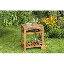 Combi trolley, natural acacia wood, WxHxD: approx....