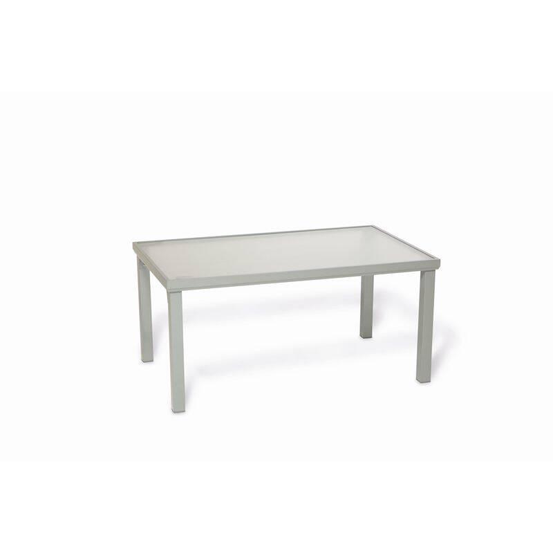 Gartentisch Aluminium silber, BxHxT: ca. 150x71x90cm