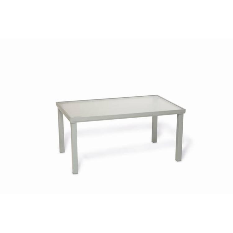 Gartentisch Aluminium Silber Bxhxt Ca 150x71x90cm