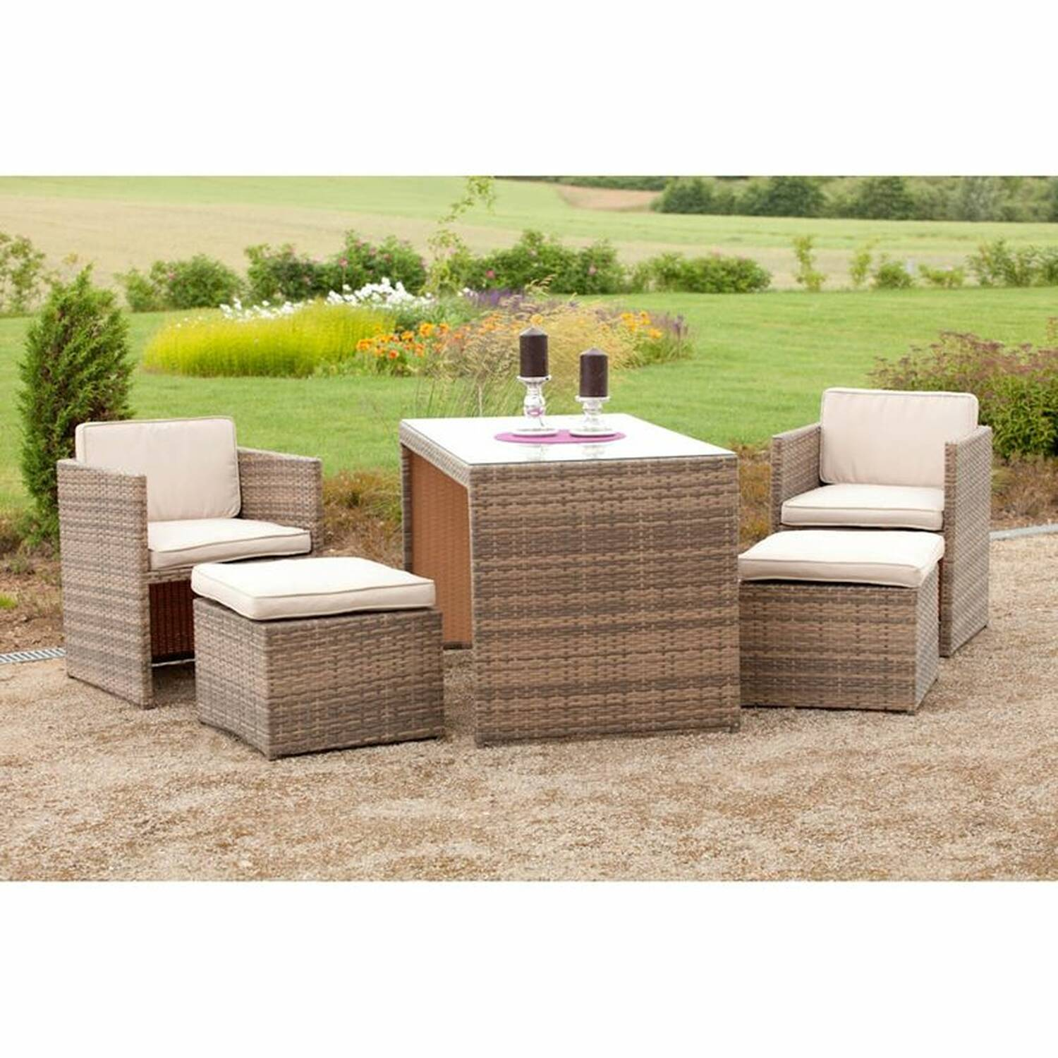 gartenm bel set umbria 29 stahl kunststoffgeflech. Black Bedroom Furniture Sets. Home Design Ideas