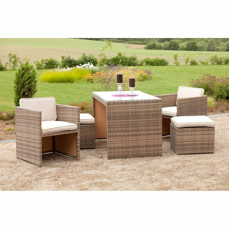 gartenm bel set umbria 29 stahl kunststoffgeflecht s. Black Bedroom Furniture Sets. Home Design Ideas