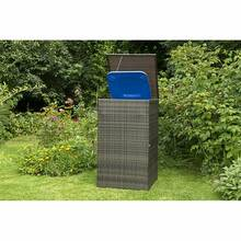 Rubbish bin cover, small, steel, brown plastic mesh,...