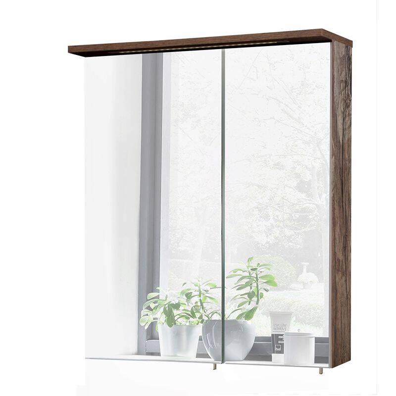Spiegelschrank LIMA-04 Panamaeiche, LED, BxHxT: ca. 60x72,3x16/24cm