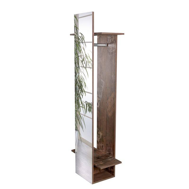 garderobenpaneel mit spiegel nizza 04 panamaeiche spieg. Black Bedroom Furniture Sets. Home Design Ideas