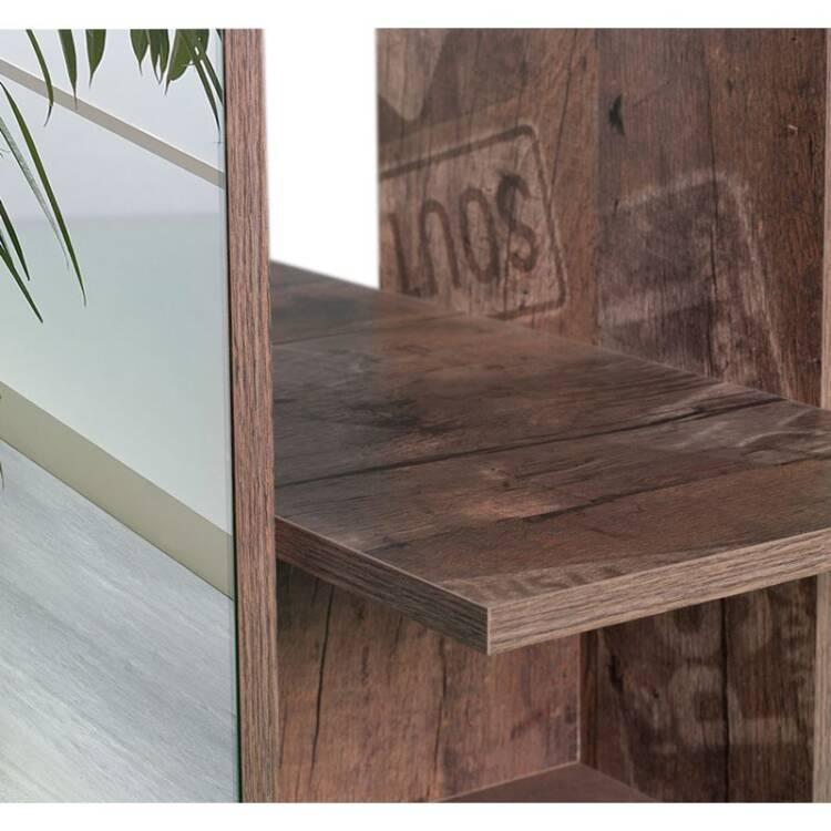 garderobenpaneel mit spiegel nizza 04 panamaeiche spiegel. Black Bedroom Furniture Sets. Home Design Ideas