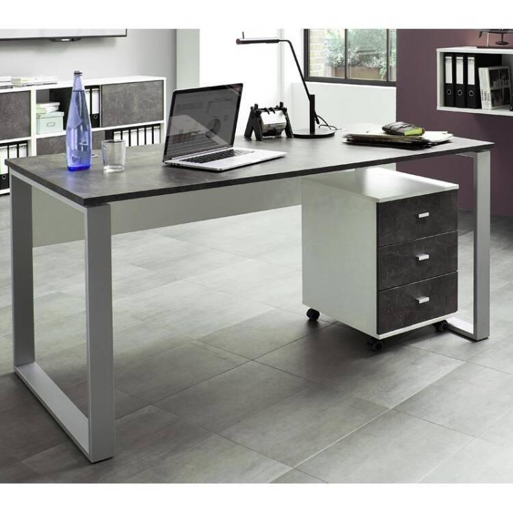 b rom bel schreibtisch set merida 01 wei s. Black Bedroom Furniture Sets. Home Design Ideas