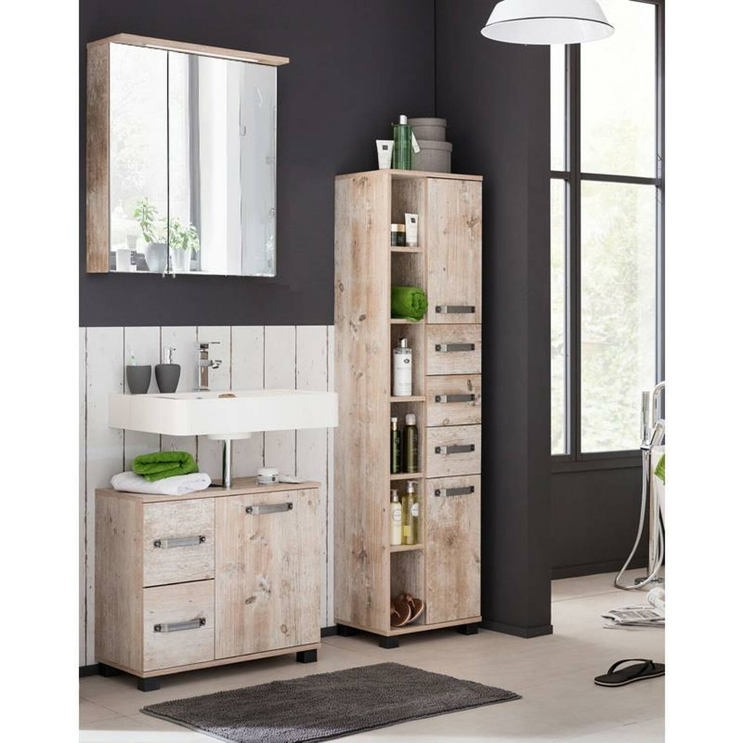 badm bel set lima 04 findusschalung 60cm spiege. Black Bedroom Furniture Sets. Home Design Ideas