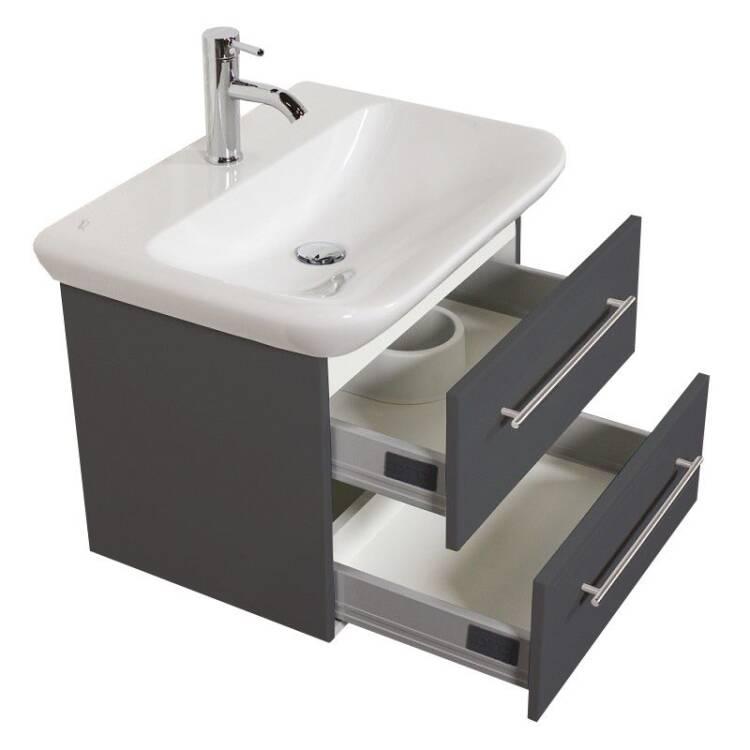 waschtisch keramag myday seidenglanz anthrazit 65 x 4. Black Bedroom Furniture Sets. Home Design Ideas