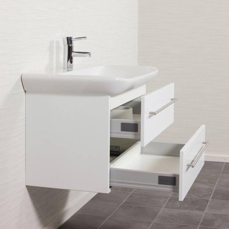 waschtisch keramag myday hochglanz wei 80 x 45 x 48. Black Bedroom Furniture Sets. Home Design Ideas