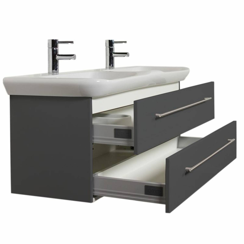 doppelwaschtisch keramag myday seidenglanz anthrazit. Black Bedroom Furniture Sets. Home Design Ideas
