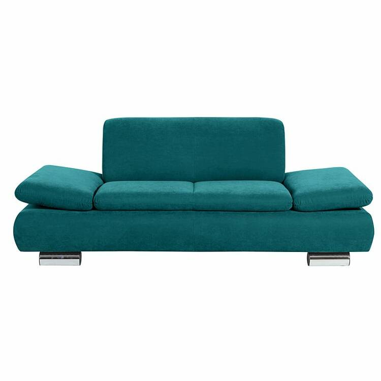 sofa 2 sitzer terrence 23 veloursstoff farbe petrol s. Black Bedroom Furniture Sets. Home Design Ideas
