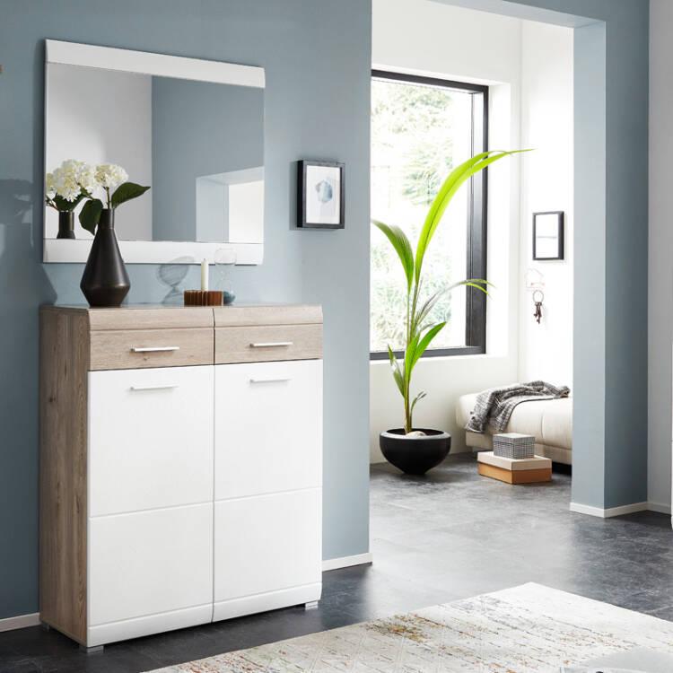 schuhschrank spiegel set auf rechnung kaufen lomado. Black Bedroom Furniture Sets. Home Design Ideas