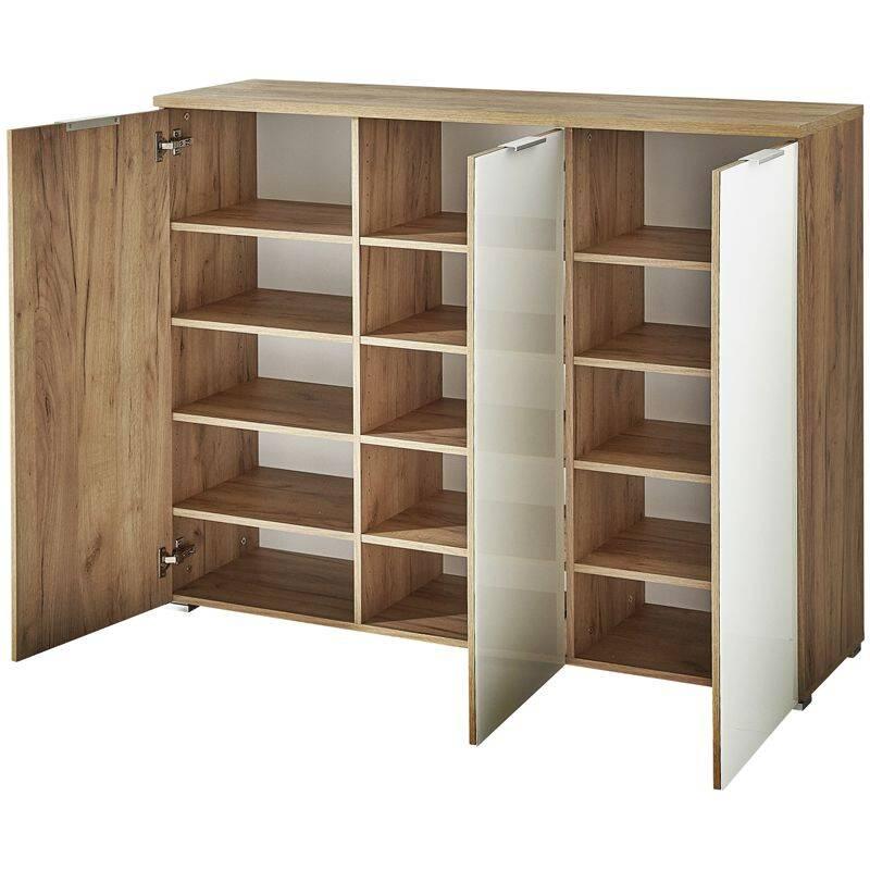 garderoben set lyon 01 navarra eiche mit wei er. Black Bedroom Furniture Sets. Home Design Ideas