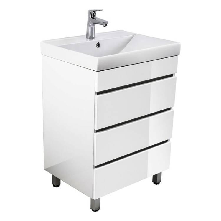 stand waschtisch mit unterschrank kassandra 02 hochglanz. Black Bedroom Furniture Sets. Home Design Ideas