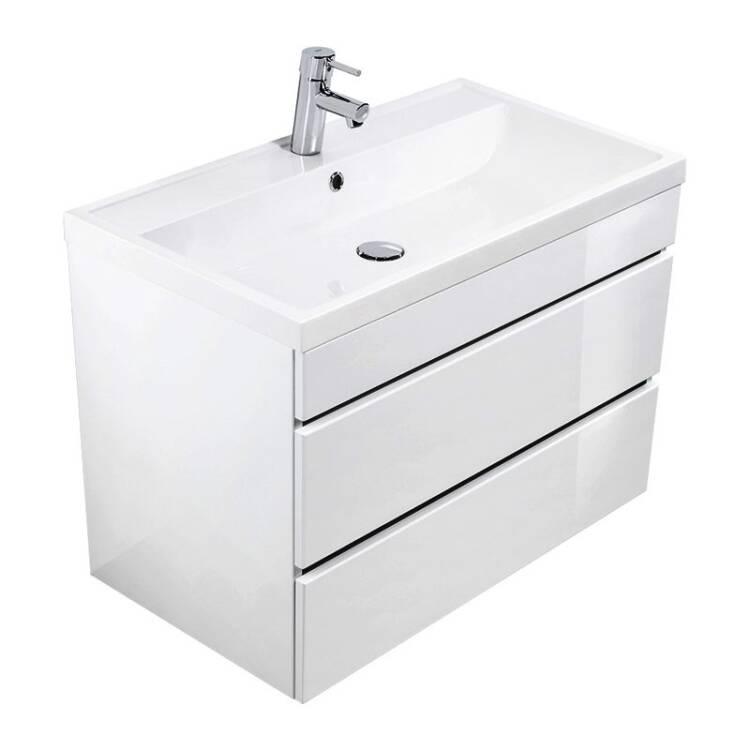Waschtisch Mit Unterschrank Hochglanz Weiß Kassandra 02 Mit 80cm Wasch