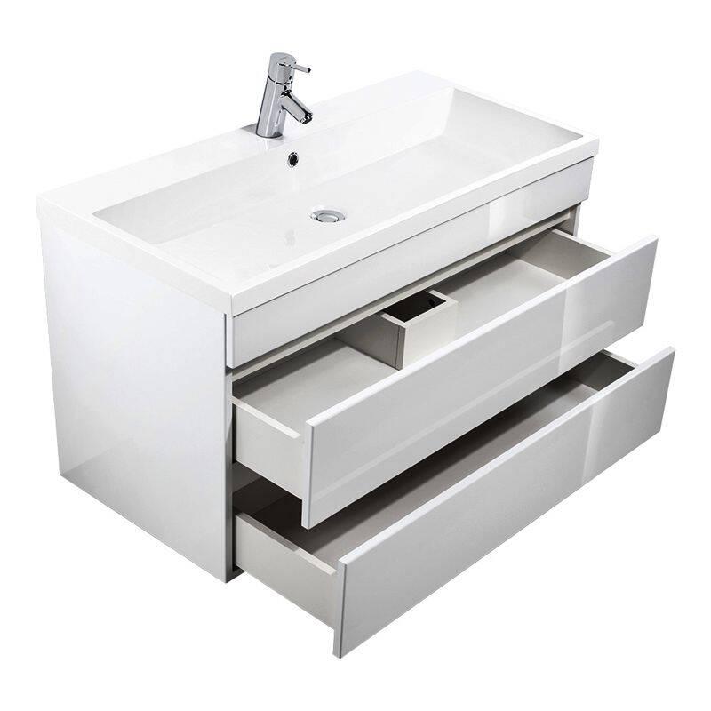 waschtisch kassandra 100 hochglanz weiss mineralgussb. Black Bedroom Furniture Sets. Home Design Ideas