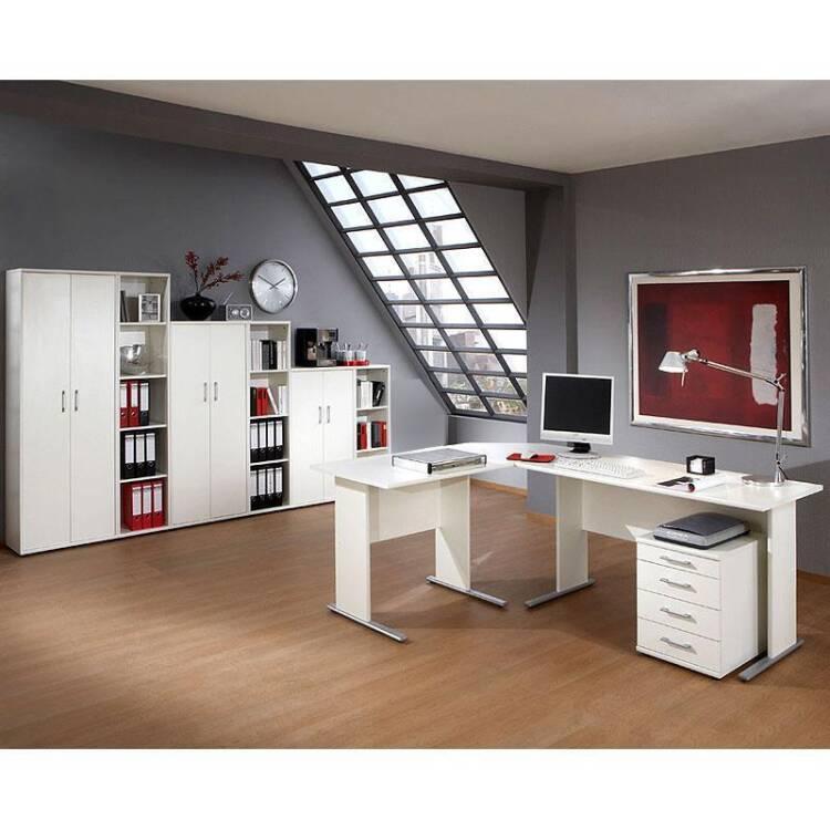 b rom bel set stettin 16 in wei eckschreibtisch mit. Black Bedroom Furniture Sets. Home Design Ideas