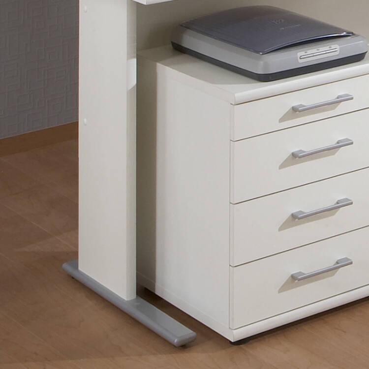 Büromöbel Set STETTIN-16 weiß, Ecksch
