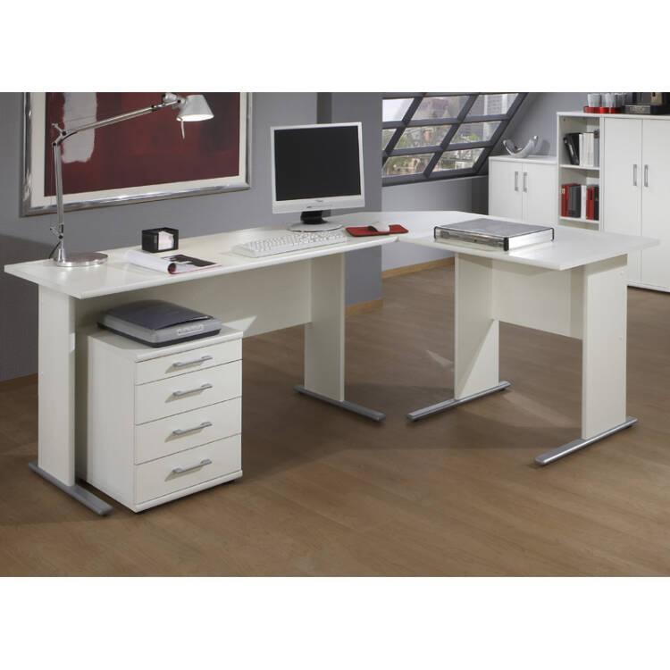 Schreibtisch Set Stettin 16 Weiß Eckschreibtisch Mit