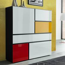 Highboard ALABAMA-01 mit Glasront multicolor, B x H x T...