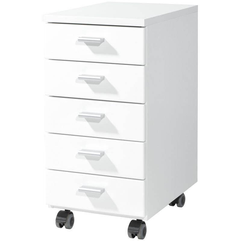 Rollcontainer DALLAS-01 Hochglanz weiß B x H x T 28 x 57 x 40 cm