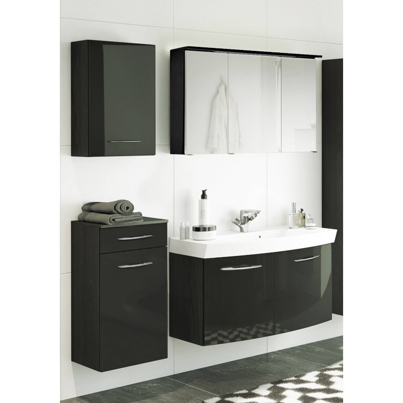 badm bel set florido 03 hochglanz grau waschtis. Black Bedroom Furniture Sets. Home Design Ideas