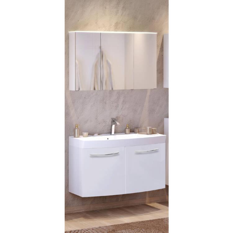 waschtisch spiegelschrank set florido 03 hochglanz. Black Bedroom Furniture Sets. Home Design Ideas